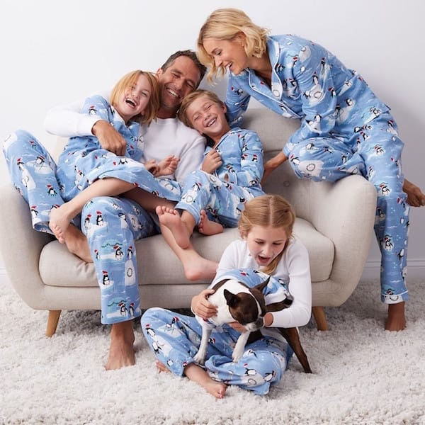 Penguin Flannel Family PJs