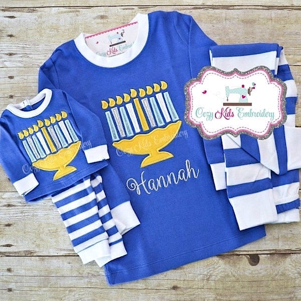 Kids Personalized Hanukkah PJs