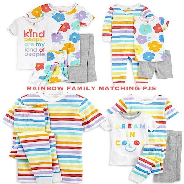 Family Matching Rainbow PJS