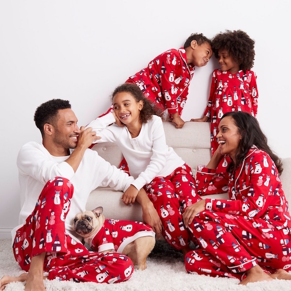 Red Snowman Flannel Family Holiday Pajamas