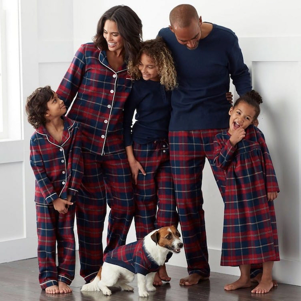 Red and Blue Plaid Winter Family Holiday PJs