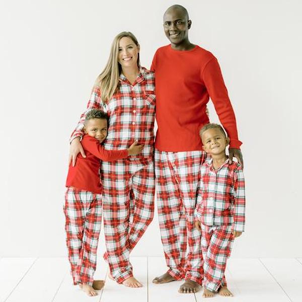 Red & White Plaid Family Holiday PJs
