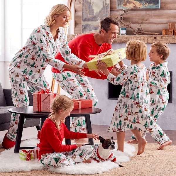 Santa Flannel Family Holiday PJs