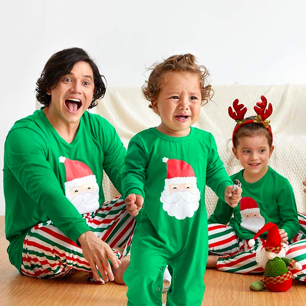 Santa + Stripes Family Holiday PJs