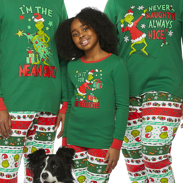 Grinch Family Christmas PJs