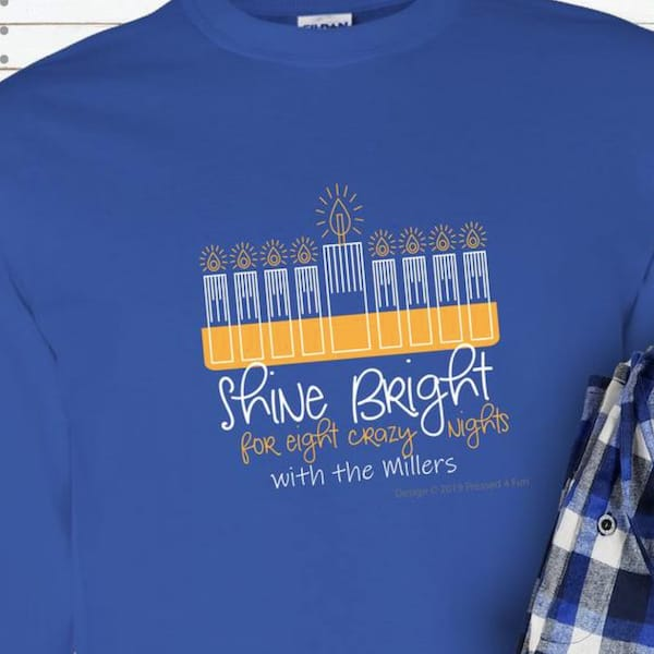 Shine Bright Family Hanukkah PJs
