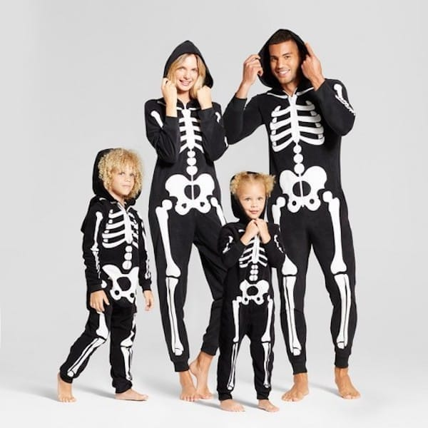 Glow in the Dark Hooded Skeleton PJs