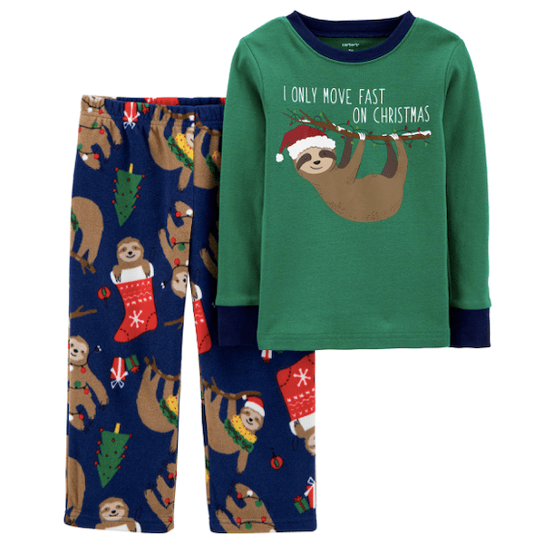 Sloth Christmas PJs