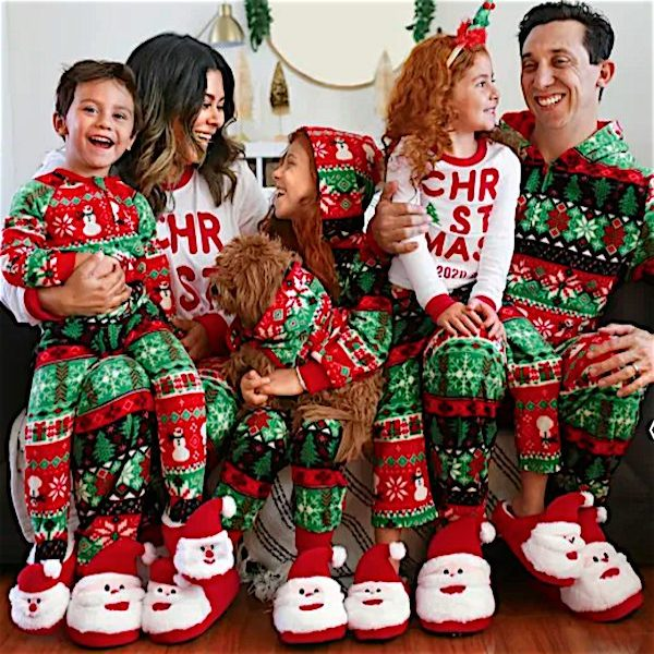 Snowman and Santa Fair Isle Family Holiday PJs