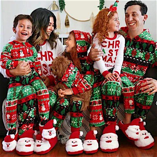 Snowman and Santa Fair Isle Family Holiday PJs