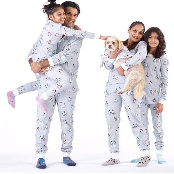 Organic Cotton Skiing Penguins PJs