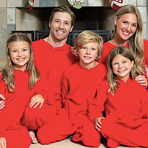 Red Onesie Family Holiday PJs