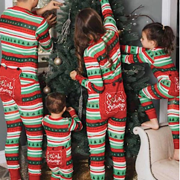Special Delivery Family Holiday Onesies