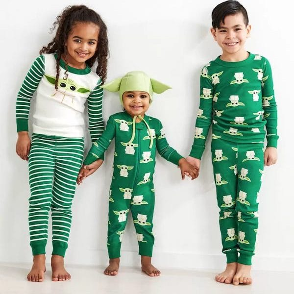 Baby Yoda Family Holiday PJs
