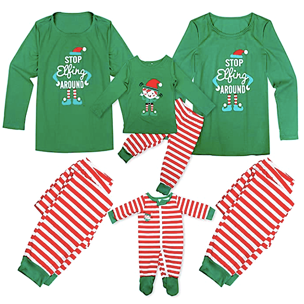 Stop Elfing Around Family Christmas PJs