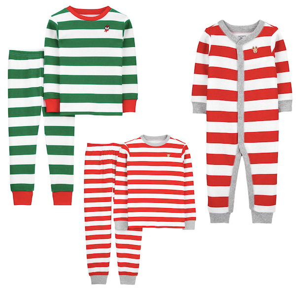 Thermal Striped Family Holiday PJs