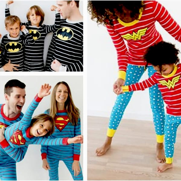 Superhero Matching Family PJs