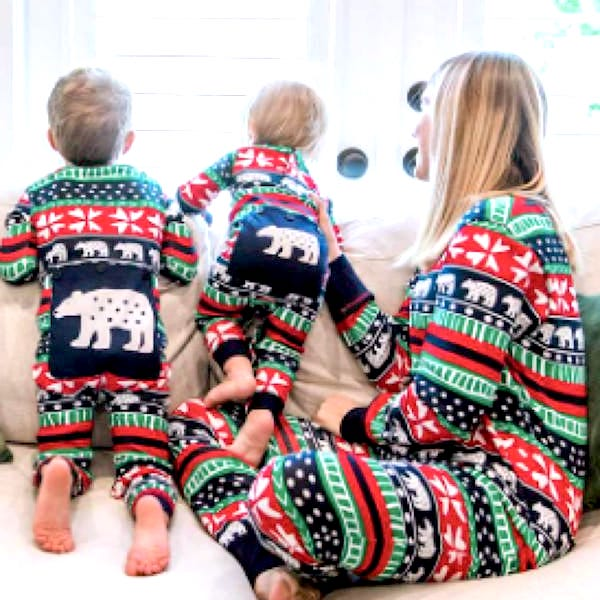 Sweater Bear Family Fair Isle Holiday Onesies