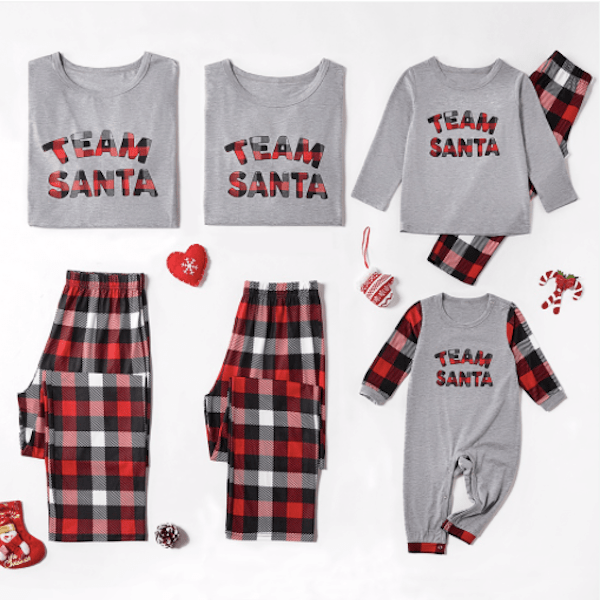 Team Santa Cheap Family Holiday PJs