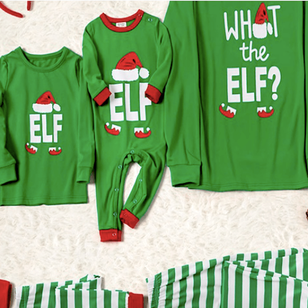What the Elf Family Matching Holliday PJs