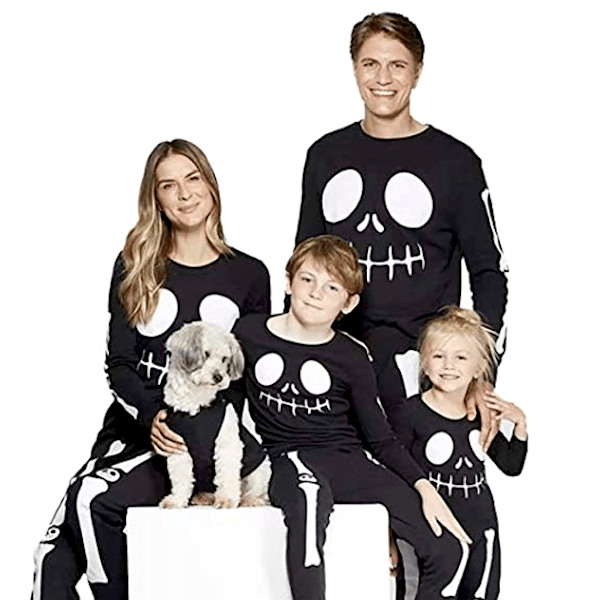 Family Matching Halloween Skeleton PJs