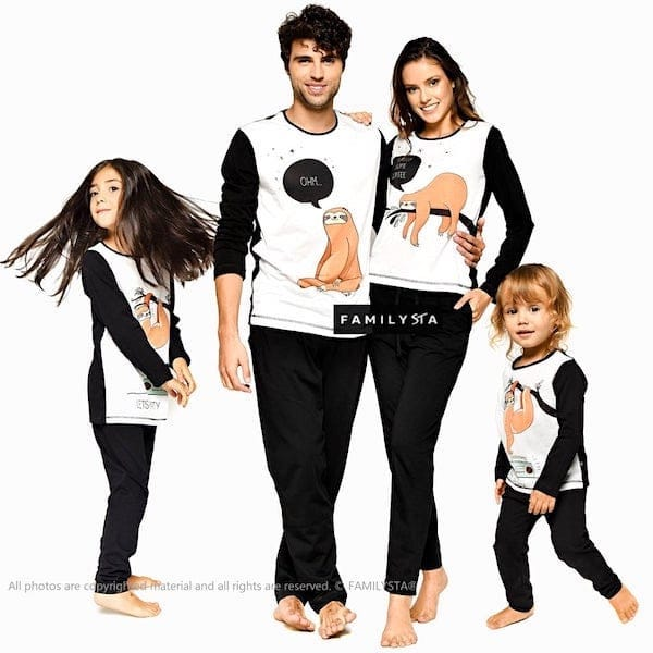 Sloth-Family-Halloween-Pajamas
