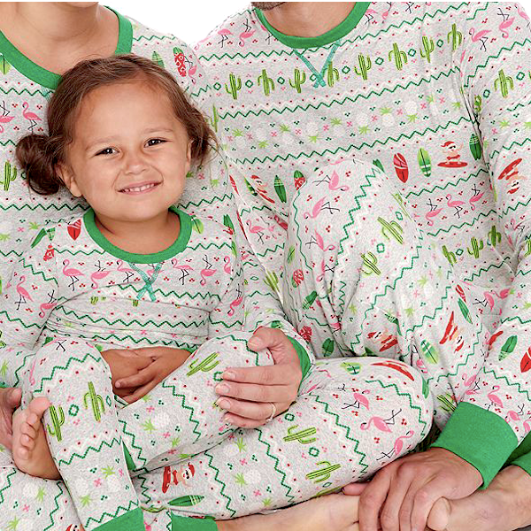Surfing Santa Family Holiday PJs